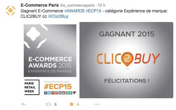 Tweet e-commerce Clic2Buy