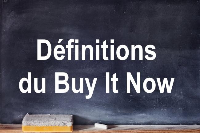 Définitions du buy now